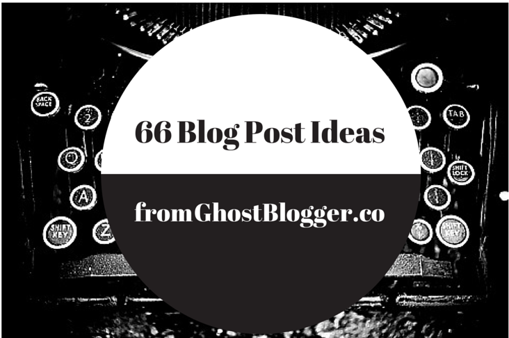 Blog Editorial Calendar Cheat Sheet: 66 Hacks to Get You Writing Now from GhostBlogger.co