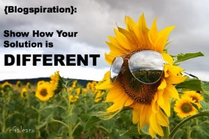 {Blogspiration}: Show how your solution is different