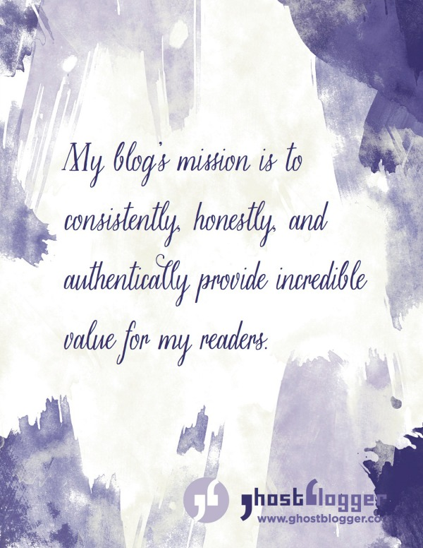 Printable blog mission statement