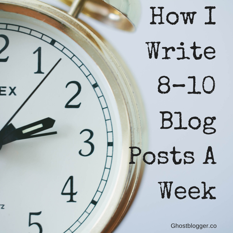 how I write 8–10 blog posts a week