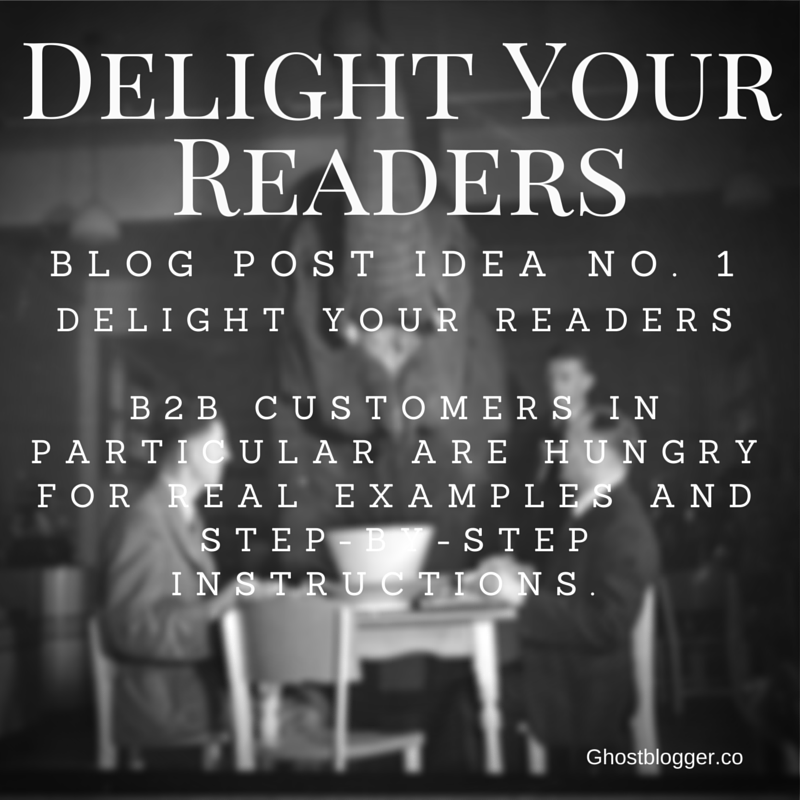 Delight Your Readers- Tip 1