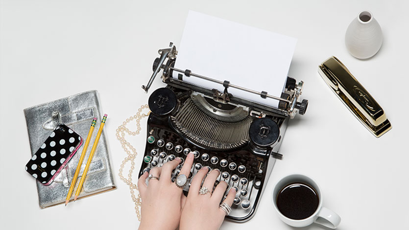 type writer blog business