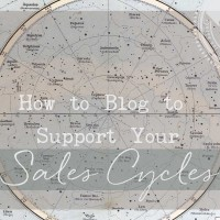 How to Blog to Support Your Sales Cycles