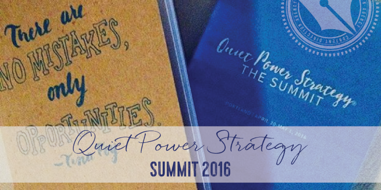 Quiet Power Strategy Summit 2016: Big Ideas and Smaller Plans
