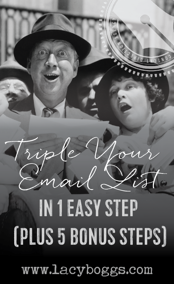 Triple your email list in one step.