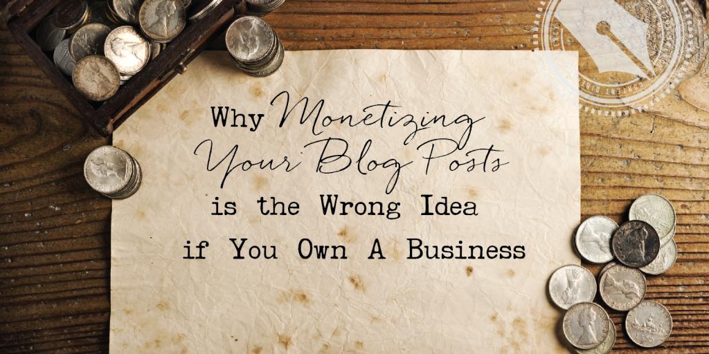 monetizing blog posts