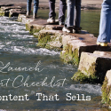 Free Launch Content Checklist for Content That Sells