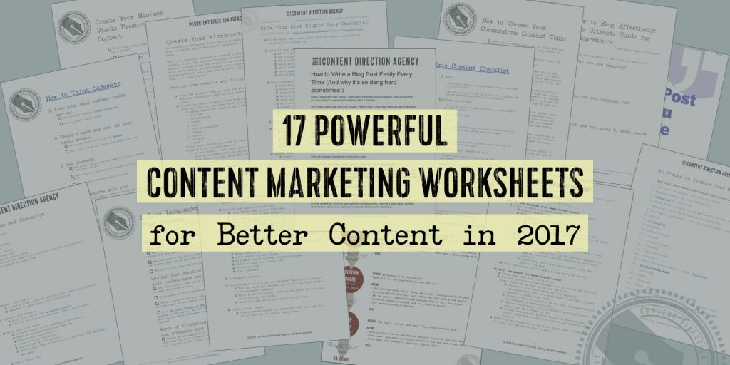 17 Powerful Content Marketing Worksheets